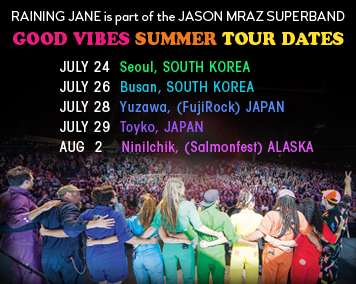 We're in the Jason Mraz Superband! Taking the Good Vibes Tour to South Korea, Japan, and Alaska!